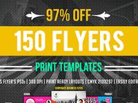 Print Bundle: 150 Multipurpose Flyers – just $23
