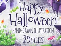 Happy Halloween Bundle: 29 illustrations – just $13