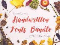 6 Handwritten Fonts – just $12