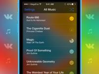 VK Tune for iOS music app ios interface vk vkontakte ui