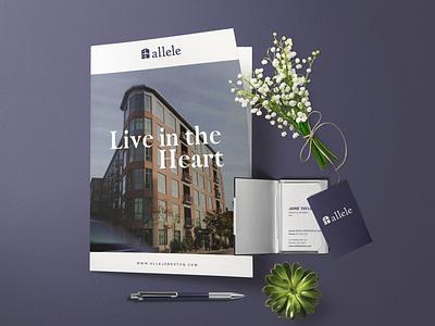Allele Condo : Real-Estate Branding design graphic design branding design branding logo real estate condo realestate logo realestate real estate branding real estate logo