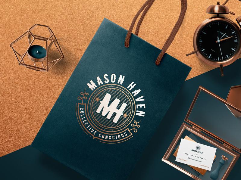 Mason Haven : Branding for Luxury Apparel design graphic design logo design brand identity brand design branding brand logo retail design premium logo apparel design apparel logo apparel luxury branding luxury brand