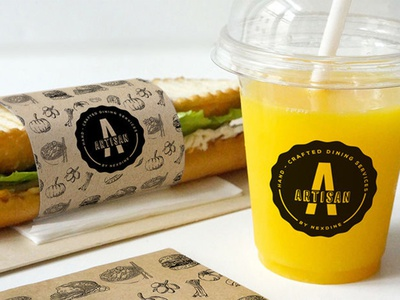 Artisan: Branding for Student Cafe Dining Service ux ui design sandwiches hospitality food service food logo food branding food brand food and drink food packaging food packaging design cafe branding cafe logo cafeteria branding cafeteria logo branding graphic design