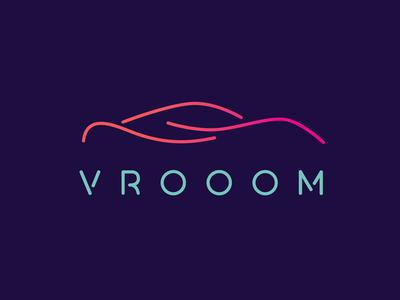 Vrooom : Self driving car logo