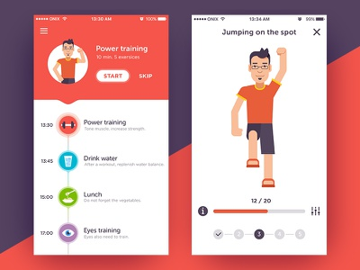 Healthy Freelancer to do freelancer character health habits list regimen daily timeline app gym fitness