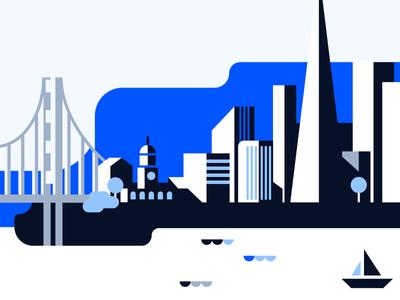 San Francisco Illustration geometric monotone brand colorful san francisco wyre illustration