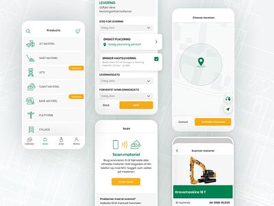 GSV App - Transforming the construction site checkout app ui nfc geolocation app design flutter app material design