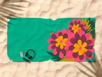 Flowers For Lola [beach towel]