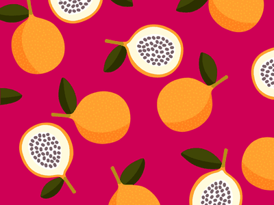 100 days of prints and patterns [59] tropical fruit graphic design bright pattern vector pattern design surface design print graphic digital colorful