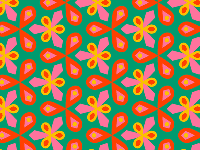 100 days of prints and patterns [72] floral geometric flowers pattern bright vector pattern design surface design print graphic digital colorful