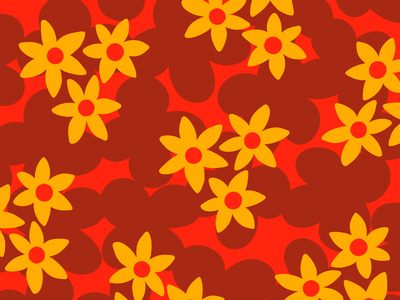 100 days of prints and patterns [77] hand drawn flowers floral pattern pattern bright vector pattern design surface design print graphic digital colorful