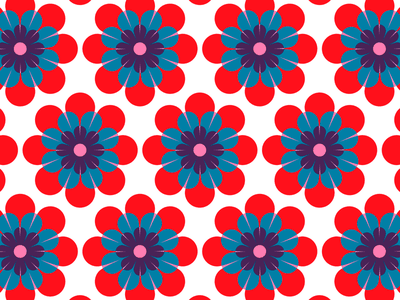 100 days of prints and patterns [79] kids flowers floral pattern pattern bright vector pattern design surface design print graphic digital colorful