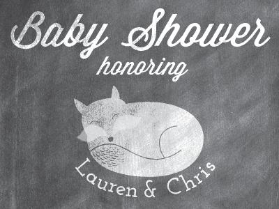 Baby Shower fox #2