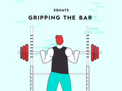 Squat form study - Gripping the Bar form illustration starting strength barbell lifting strength training squats