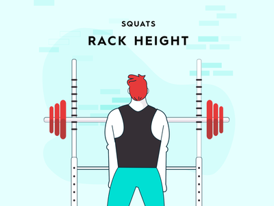 Squat form study - setting rack height wellness excercise health weightlifting lifting barbell starting strength strength training