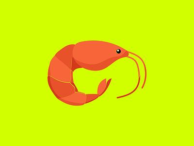 Shrimp! vector design animal flat illustration prawn seafood shrimping shrimp