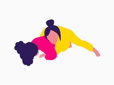 Turtle position illustration jiu-jitsu jiu jitsu grappling bjj jiujitsu