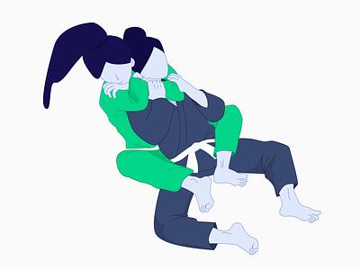 Rear Naked Choke submission rear naked choke rnc grappling illustration jiu-jitsu bjj jiujitsu