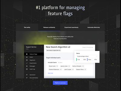 Launch Darkly product marketing identity components figma icon marketing product b2b ui design web branding