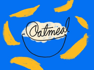 Oatmeal drawing editorial illustration
