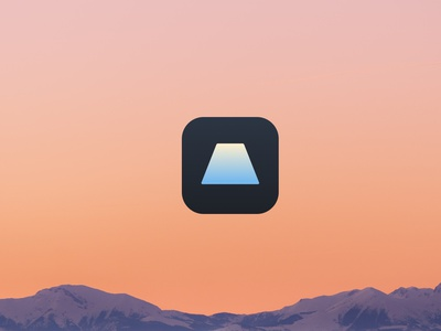 Beta ux ui app identity icon logo branding