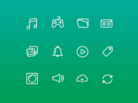 54 lines Multimedia icons