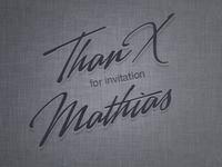 thanx for invitation