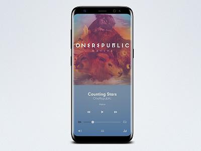 Quiet Music, UI App Design Concept uiux ui design quiet minimalist android music music player app interface design ui