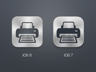 Printer Pro - iOS 7 Icon printer pro readdle ios 7 icon flat grey iphone ipad app redesign upgrade