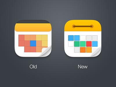 Calendars 5 - redesign icon calendars yellow orange icon app grey ios 7 ipad iphone readdle redesign upgrade