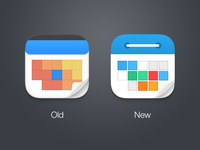 Calendars - redesign icon