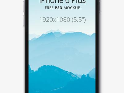 iPhone 6 Plus iphone 6 plus apple free mockup psd black six