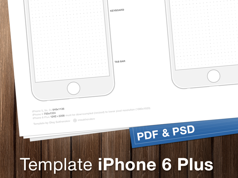 IPhone 6 Wireframes Pdf Iphone Free Template Psd White Six Guidline Mobile Phone