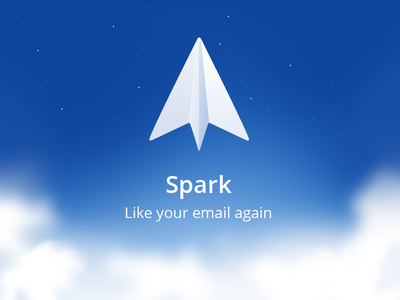 Spark - iOS icon sky fly plane paper client smart email spark iphone readdle