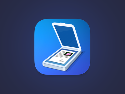 Scanner Pro 6 - New Icon scannerpro scanner pro icon readdle blue ios flat shadow