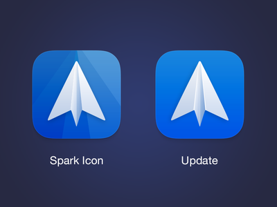 Update icon for Spark - Smart Email App sky fly plane paper client smart email spark iphone readdle