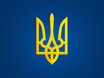 Coat Of Ukraine blue ua yellow gold pray coat ukraine