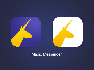 Magic Messenger - iOS icon anonymous random messenger magic app icon unicorn hackathon ios