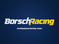 Borsch Racing - logotype for professional karting team formula wrc wwtc rtr drift sport team logotype logo karting speed racing