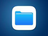 Files iOS 11 - Application Icon. PSD folder vector icon app beta 11 ios free psd ios11 files