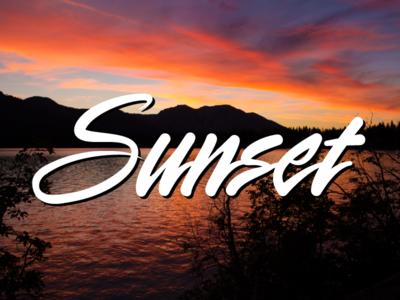 Sunset Typography