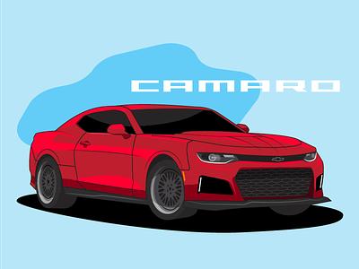 Camaro retro chevy camaro vehicle automotive car illustration vector speed