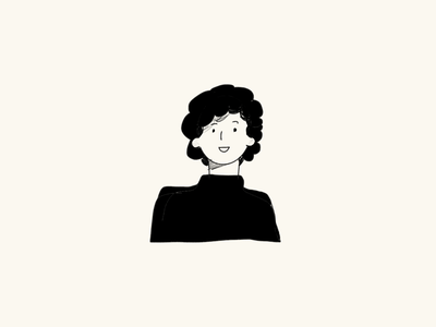 What's her name? procreate pencil loose monochrome black sketch woman doodle drawing girl illustration