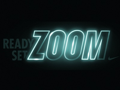 Nike Zoom Relay Logo graphic design nike running typography nike logo branding running design