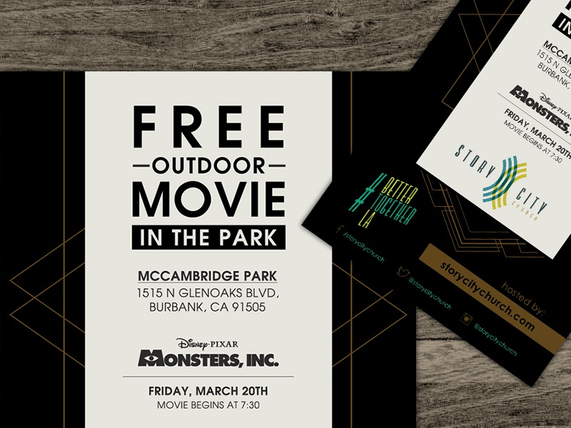 Free Outdoor Movie Flyer by Patrick Hardy - Dribbble