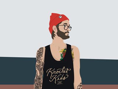 Profile Vector tattooed tattoos graphic design design vector