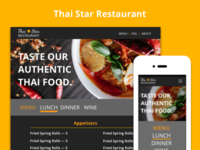 Web, Mobile, & Logo Designs for Thai Star Restaurant