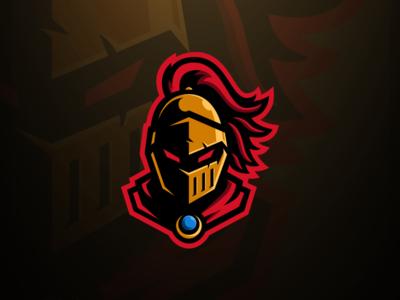 Golden Knight Mascot Logo