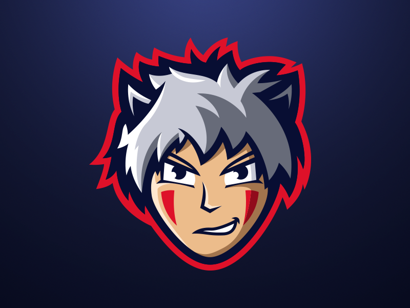 Hedi - Anime Mascot Logo streaming branding gaming streamer design wolf anime sports logo mascot