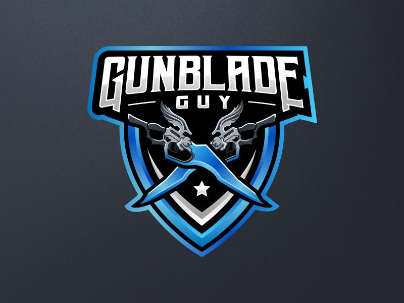 Gunblade Guy Logo Concept vector gaming final fantasy streamer branding guy gunblade logo design concept logo
